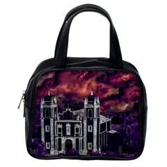 Fantasy Tropical Cityscape Aerial View Classic Handbags (One Side)