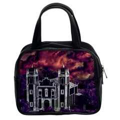 Fantasy Tropical Cityscape Aerial View Classic Handbags (2 Sides)
