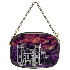 Fantasy Tropical Cityscape Aerial View Chain Purses (One Side)