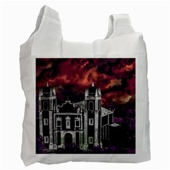 Fantasy Tropical Cityscape Aerial View Recycle Bag (One Side)