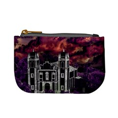 Fantasy Tropical Cityscape Aerial View Mini Coin Purses