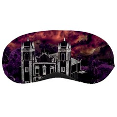 Fantasy Tropical Cityscape Aerial View Sleeping Masks