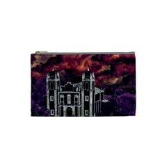 Fantasy Tropical Cityscape Aerial View Cosmetic Bag (Small)