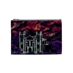 Fantasy Tropical Cityscape Aerial View Cosmetic Bag (Medium)