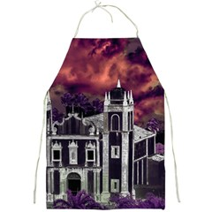 Fantasy Tropical Cityscape Aerial View Full Print Aprons