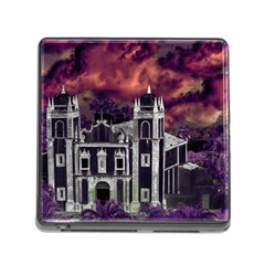 Fantasy Tropical Cityscape Aerial View Memory Card Reader (Square)