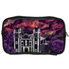 Fantasy Tropical Cityscape Aerial View Toiletries Bags