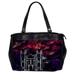Fantasy Tropical Cityscape Aerial View Office Handbags