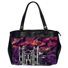 Fantasy Tropical Cityscape Aerial View Office Handbags (2 Sides)