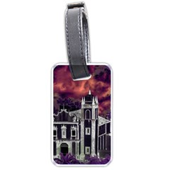 Fantasy Tropical Cityscape Aerial View Luggage Tags (Two Sides)