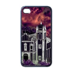 Fantasy Tropical Cityscape Aerial View Apple iPhone 4 Case (Black)