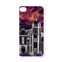Fantasy Tropical Cityscape Aerial View Apple iPhone 4 Case (White)