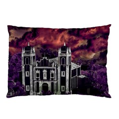 Fantasy Tropical Cityscape Aerial View Pillow Case (Two Sides)