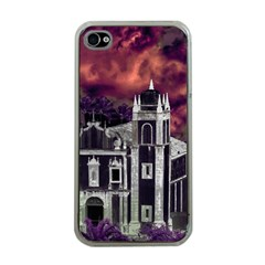 Fantasy Tropical Cityscape Aerial View Apple iPhone 4 Case (Clear)