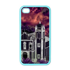 Fantasy Tropical Cityscape Aerial View Apple iPhone 4 Case (Color)