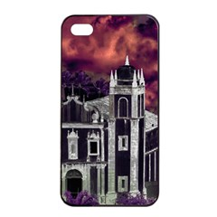 Fantasy Tropical Cityscape Aerial View Apple iPhone 4/4s Seamless Case (Black)