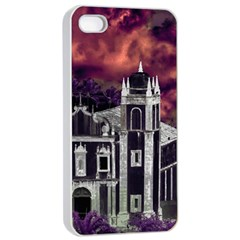 Fantasy Tropical Cityscape Aerial View Apple iPhone 4/4s Seamless Case (White)