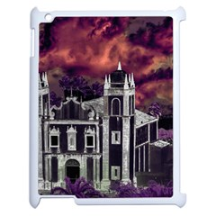 Fantasy Tropical Cityscape Aerial View Apple iPad 2 Case (White)
