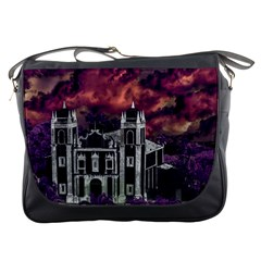 Fantasy Tropical Cityscape Aerial View Messenger Bags