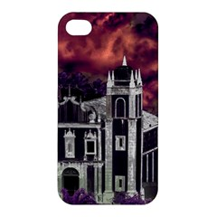 Fantasy Tropical Cityscape Aerial View Apple iPhone 4/4S Premium Hardshell Case