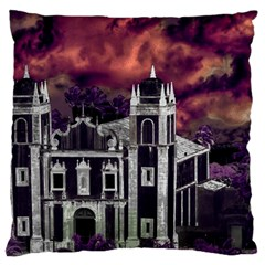 Fantasy Tropical Cityscape Aerial View Large Cushion Case (One Side)