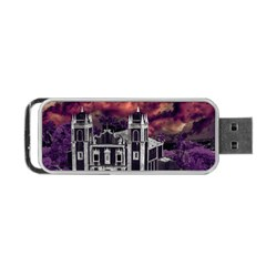Fantasy Tropical Cityscape Aerial View Portable USB Flash (One Side)