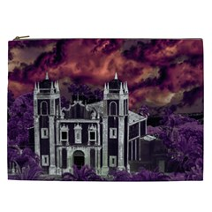 Fantasy Tropical Cityscape Aerial View Cosmetic Bag (XXL)