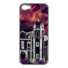 Fantasy Tropical Cityscape Aerial View Apple iPhone 5 Case (Silver)