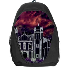 Fantasy Tropical Cityscape Aerial View Backpack Bag