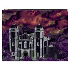 Fantasy Tropical Cityscape Aerial View Cosmetic Bag (XXXL)