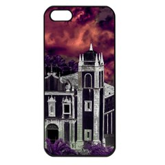 Fantasy Tropical Cityscape Aerial View Apple iPhone 5 Seamless Case (Black)