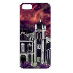Fantasy Tropical Cityscape Aerial View Apple iPhone 5 Seamless Case (White)