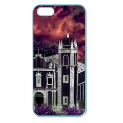 Fantasy Tropical Cityscape Aerial View Apple Seamless iPhone 5 Case (Color)