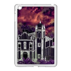 Fantasy Tropical Cityscape Aerial View Apple iPad Mini Case (White)