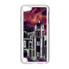 Fantasy Tropical Cityscape Aerial View Apple iPod Touch 5 Case (White)