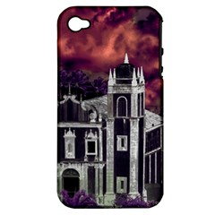 Fantasy Tropical Cityscape Aerial View Apple iPhone 4/4S Hardshell Case (PC+Silicone)