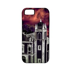Fantasy Tropical Cityscape Aerial View Apple iPhone 5 Classic Hardshell Case (PC+Silicone)