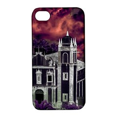 Fantasy Tropical Cityscape Aerial View Apple iPhone 4/4S Hardshell Case with Stand