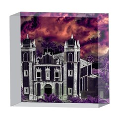 Fantasy Tropical Cityscape Aerial View 5  x 5  Acrylic Photo Blocks