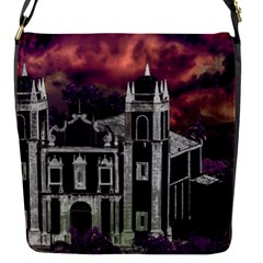 Fantasy Tropical Cityscape Aerial View Flap Messenger Bag (S)