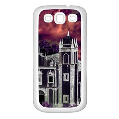 Fantasy Tropical Cityscape Aerial View Samsung Galaxy S3 Back Case (White)