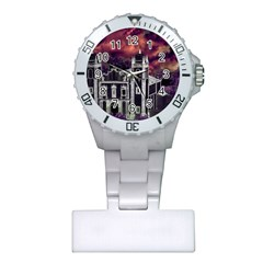 Fantasy Tropical Cityscape Aerial View Plastic Nurses Watch