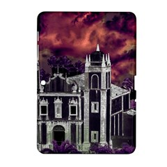 Fantasy Tropical Cityscape Aerial View Samsung Galaxy Tab 2 (10.1 ) P5100 Hardshell Case