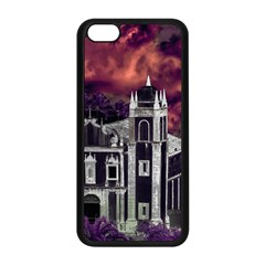 Fantasy Tropical Cityscape Aerial View Apple iPhone 5C Seamless Case (Black)