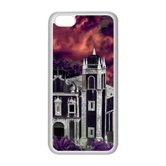 Fantasy Tropical Cityscape Aerial View Apple iPhone 5C Seamless Case (White)