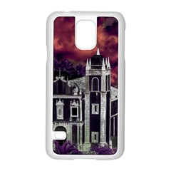 Fantasy Tropical Cityscape Aerial View Samsung Galaxy S5 Case (White)