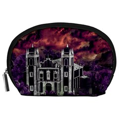 Fantasy Tropical Cityscape Aerial View Accessory Pouches (Large)