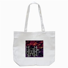 Fantasy Tropical Cityscape Aerial View Tote Bag (White)