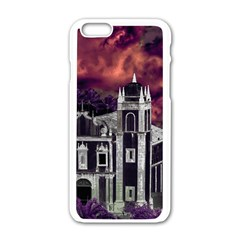 Fantasy Tropical Cityscape Aerial View Apple iPhone 6/6S White Enamel Case
