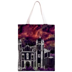 Fantasy Tropical Cityscape Aerial View Classic Light Tote Bag